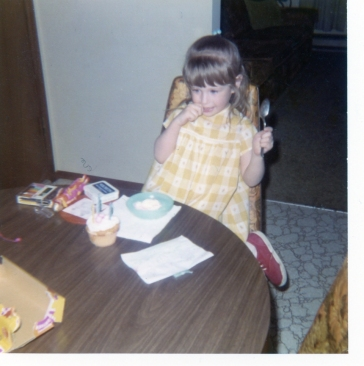 On my 3rd birthday, thinking about my wish.