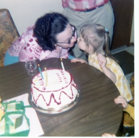 Me and my Granny Franny on my 3rd birthday.