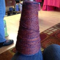The yarn I had custom made