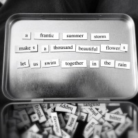 A magnetic poem