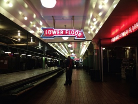I caught Seattle's Public Market after they closed. Bummer. (iPhone photo)