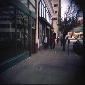 Spokane Flickr group Reunion Tour! Another Holga shot on a Spokane street corner.