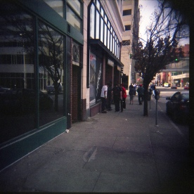 Spokane Flickr group Reunion Tour! Another Holga shot on a Spokane street corner.