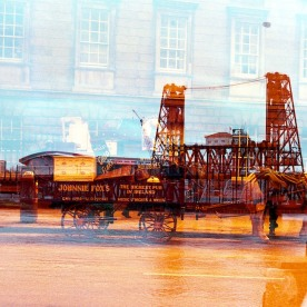 Horse-drawn steel bridge