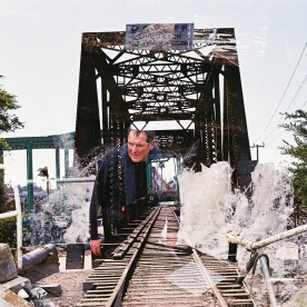Man bursts out of the Lost Boys Bridge