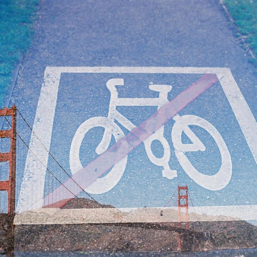 No bikes on bridge