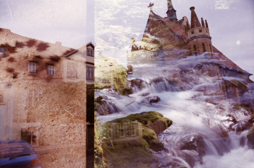 waterfall/castle
