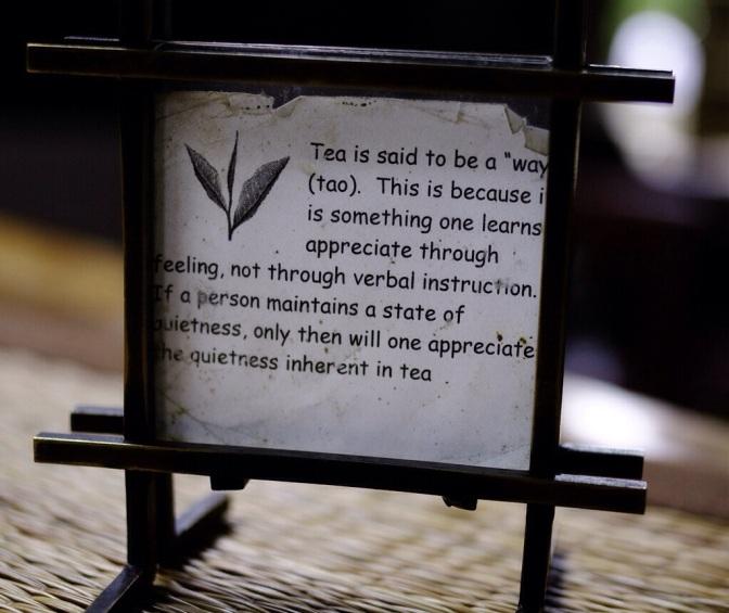 Tea Ceremony – a poem