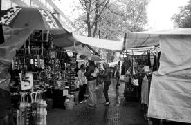 Rainy flea market