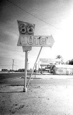 66 Motel in B&W