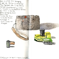 Travel Sketchbook - 35mm camera gear