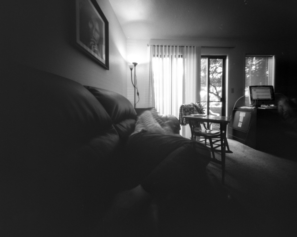 Self reclining on couch