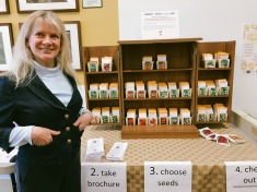 4/15: Today was the opening of the library's Seed Library, organized by my friend Susie!
