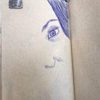 4/25: Ballpoint pen sketching