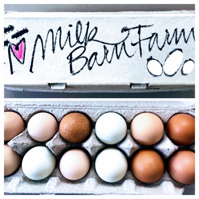 5/3: gift eggs from my friend's farm!