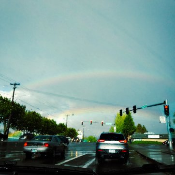 5/14: I saw a double rainbow.