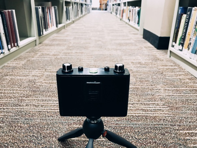 Pinhole in the library!