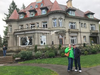 Mom and Gervin at Pittock Mansion