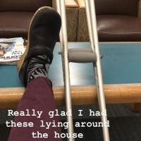 injured while sitting still